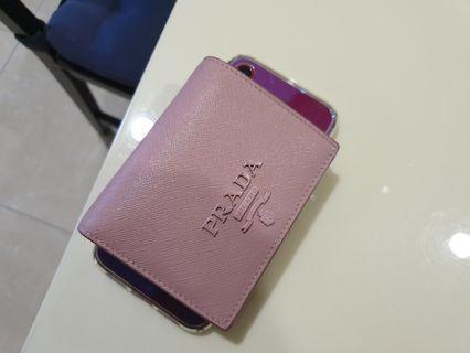 Prada Wallet pink two layer
