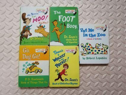 [FREESHIPPING] Dr. Seuss's board books (5 books per set)