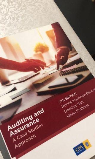 ACCT3708 Auditing and Assurance Services: A Case Studies Approach 7th edition