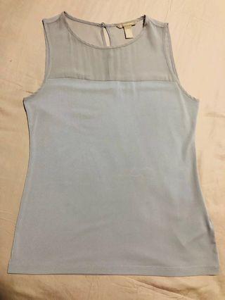 🚚 Banana Republic grey sleeveless top