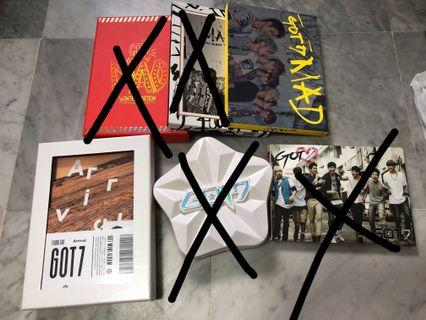 {💚WTS} CLEARANCE GOT7 UNSEALED ALBUMS