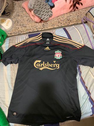 利物浦 09/10 黑金 作客 波衫 Liverpool 09/10 Away Shirt
