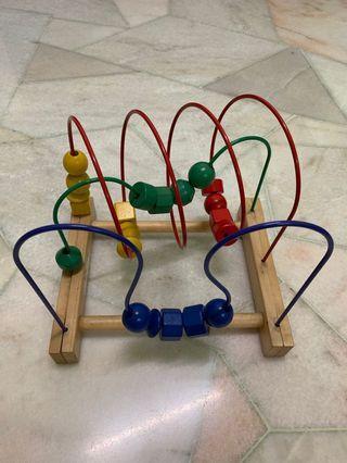 Bead roller coaster by IKEA