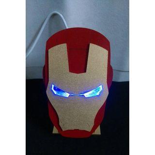 漫威 鋼鐵人 立體 3D 木製 裝飾燈 擺件 送禮