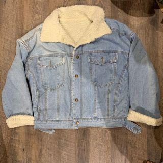 🚚 Oversized sheep fleece lined Denim Jacket