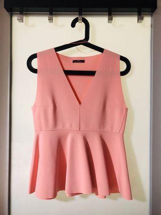 🚚 Zara pink sleeveless top