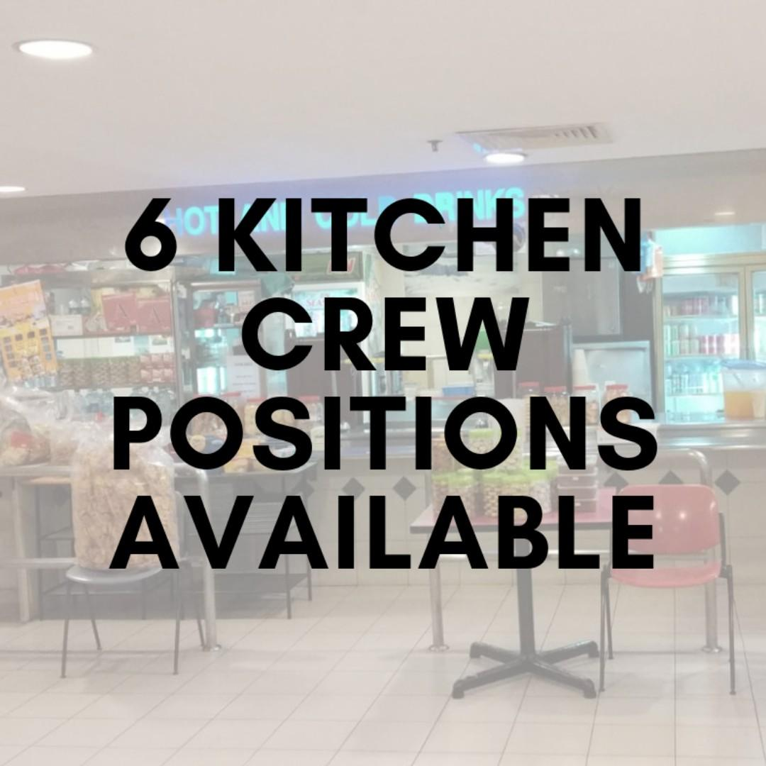 1 Full-time & 2 Part-time Crew for 2 Stalls in the East