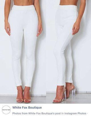 WHITE FOX HIGHWAISTED SUEDE PANTS