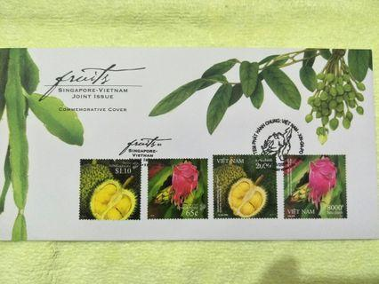 🚚 Fruits FDC stamp