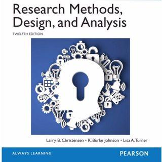 Research Methods, Design, and Analysis 12th edition (NUS PL2131)