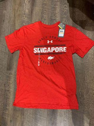 🚚 Under Amour Men Size S Red Singapore T shirt with Tags