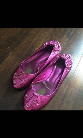 Authentic Tory Burch Purple Flats