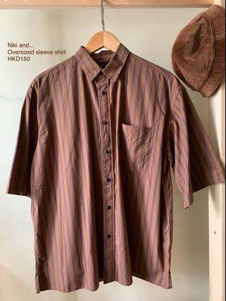 Niko and... Oversized short sleeve shirt / Size 3