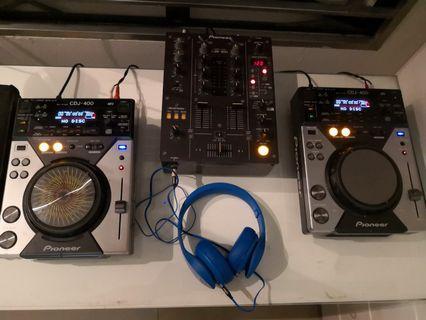 Pioneer DJM 400 ( 2-CDJ & 2 channel mixed)
