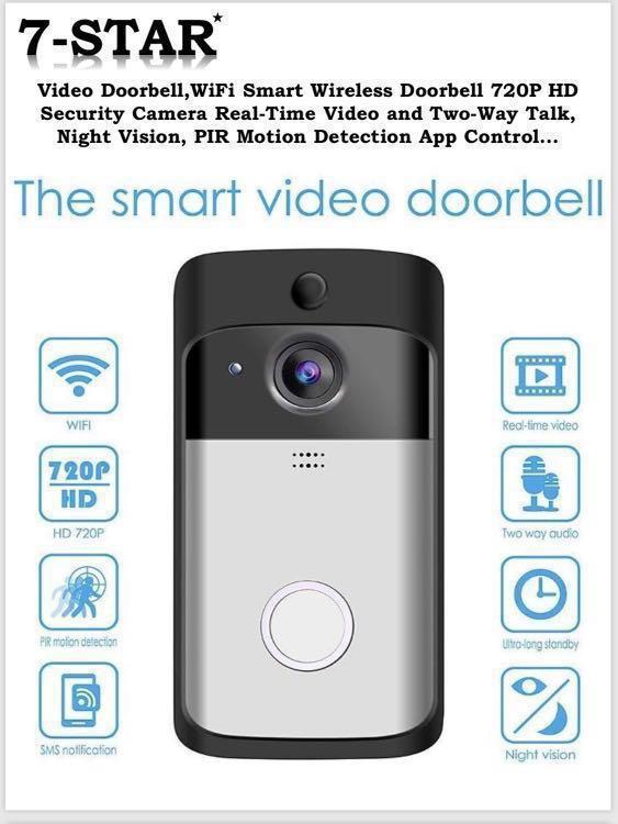 2019 Smart Wireless Wifi Doorbell Door Viewer Peephole