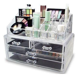 asotv 4 drawers acrylic cosmetic jewelry organizer 1155