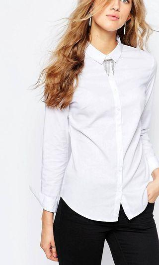 Womens (new with tags) Pimkie White Shirt