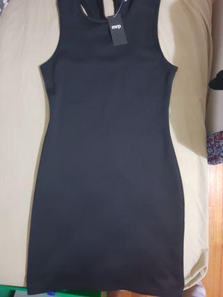 MRP Black Racerback Bodycon Dress