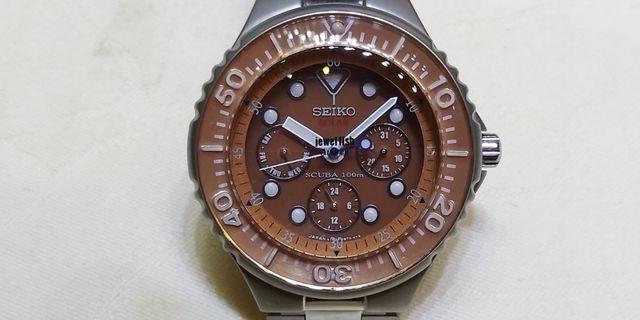 二手SEIKO光動能記念版潛水錶