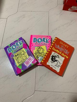 Dork diaries and diary of a wimpy kid