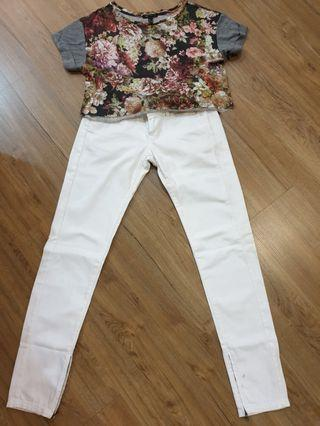 Mango jeans and top