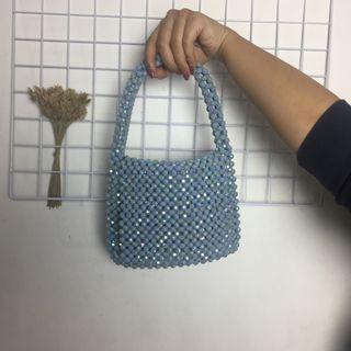 Beaded bag blue