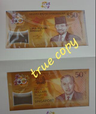 BruneiDarussalam and Singapore$50Commemorative Notes
