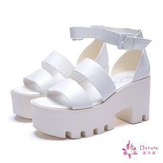 韓版鋸齒厚底鞋