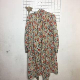 Floral long outer