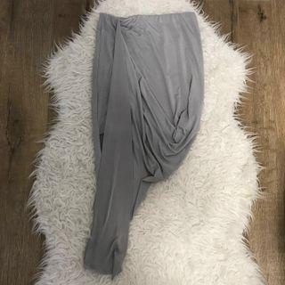 Rosebullet grey grecian asymmetrical skirt size 8