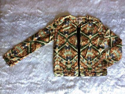 AZTEC TRIBAL JACKET ZIPPER