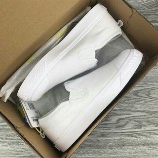 Adidas Nizza 壹腳蹬帆布鞋 全白CQ3103