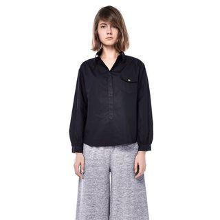 🚚 The Editor's Market Black Beverly Blouse