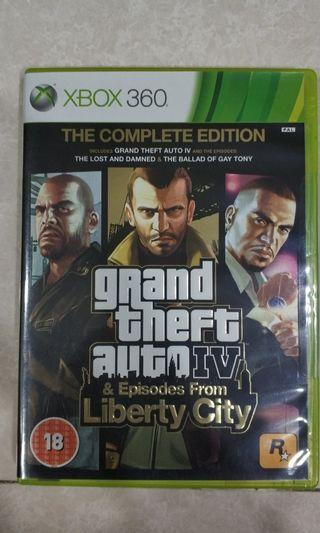 Grand Theft Auto 4 the complete edition.