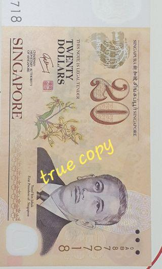 Old $20 Singapore notes