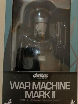 Hottoys Iron Man War Machine Mark 2 mk2 Mark II 頭像 半胸像 Bust 1:6 絕版