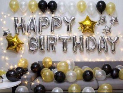 🚚 Happy birthday balloon set