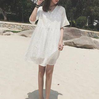 [PREORDER] White Lace Babydoll Dress