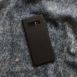 Black Bumper Silicone Case for Samsung Galaxy Note 8