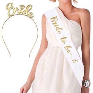 Bride to be sash set