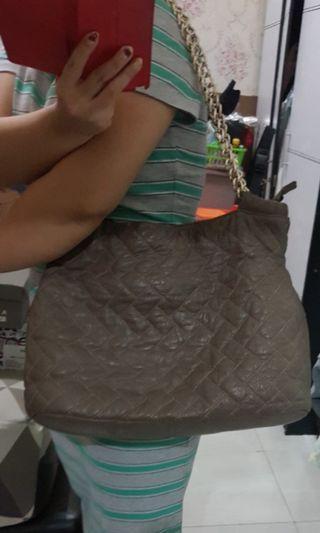 Tas shoulder rantai kulit asli
