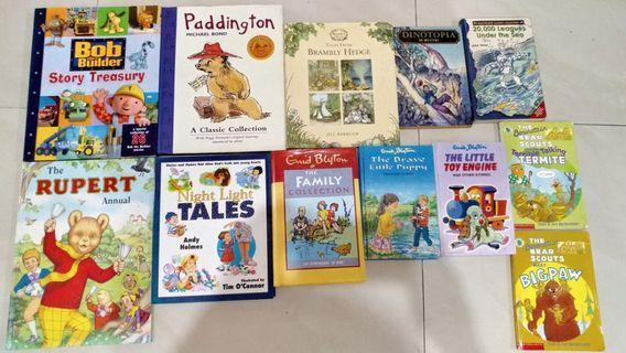 Children's books Enid Blyton, Brambly Hedge, Paddington Bear, Bob the Builder etc