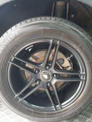 """16"""" replica rims n tyres"""