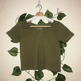 size L | ribbed green tee