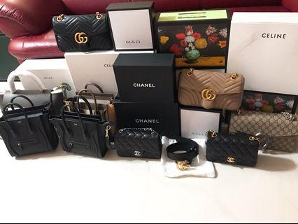部份有現貨😍😍全新Celine Chanel Gucci Ysl bag