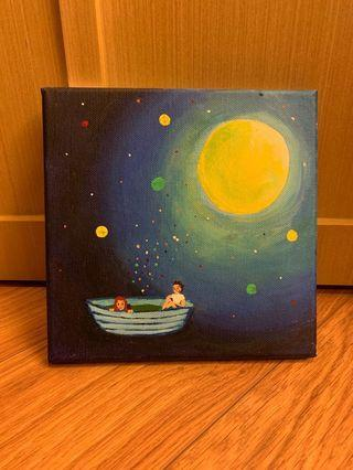 Moon River (acrylic painting on canvas)
