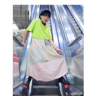 豬肉小姐 復古 古著  自改洋裝  拼接洋裝 格子洋裝  品牌洋裝  公主風 短袖洋裝 造型洋裝 POLO REMAKE