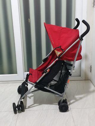 Preloved Maclaren Triumph red stroller