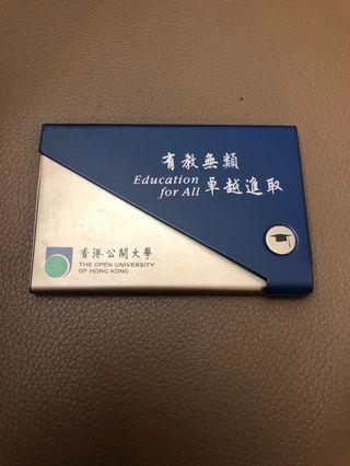 香港公開大學咭片盒 Open University Card Holder