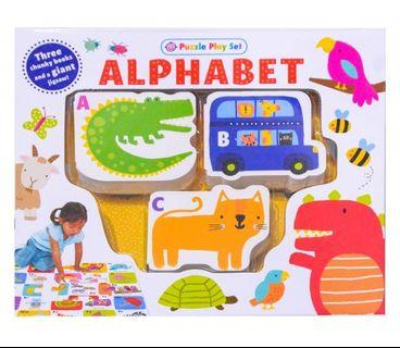 Alphabet Puzzle Play Set - 3 Chunky Books and Giant Jigsaw